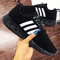Adidas Fashion Casual Breathable Outdoor Men Sneakers Sport Shoes Black