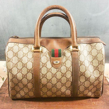 ddf5b74dc9a1 Vintage Gucci Brown Doctors Satchel Boston Speedy Bag Original G. Purses/clutches/backpacks  ...