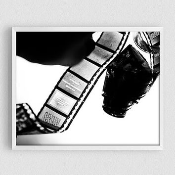 Film Strip, BW photography, Black and white, Diaposite, slide, History, Film Camera, wall art décor, printable art, old filmstrip poster