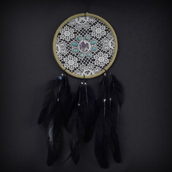 Dream Catcher Lace with Turquoise and Amethyst by ReinaJewelers