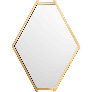 Metal-framed mirror - Gold - Home All | H&M GB