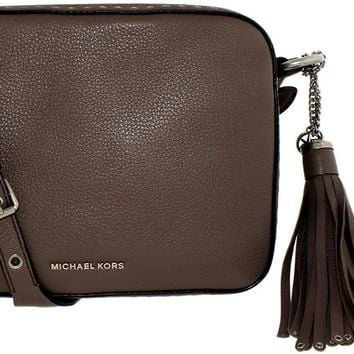 Michael Kors Women's Large Brooklyn Leather Camera Bag Leather Cross Body Bag