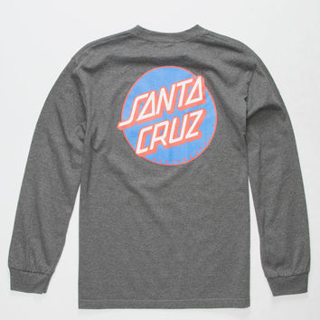 SANTA CRUZ Other Dot Charcoal Mens T-Shirt