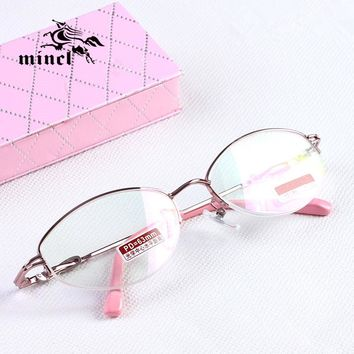 Mincl/100 reading glasses optical glasses fashion anti-fatigue anti-uv women's quality