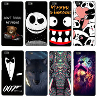 """Cute Cartoon Tigers Lion Huskies Pattern Case For Huawei Ascend P8 Lite 5.0"""" Hard Back Phone Cover Funda For Huawei P8 Lite"""