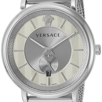 Versace Men's 'THE MANIFESTO EDITION' Quartz Stainless Steel Casual Watch, Color:Silver-Toned (Model: VBQ060017)