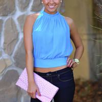 The Big Reveal Top: Aqua Blue | Hope's