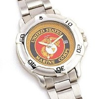 4227 Chrome Marine Corp Logo Quartz Watch