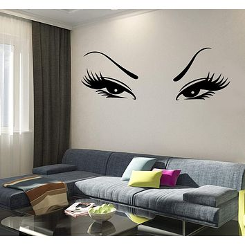 Wall Vinyl Decal Beautiful Oriental Asian Eyes Decor Unique Gift z3753