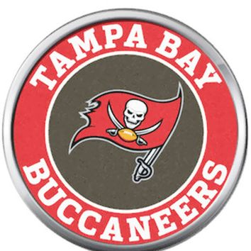 Tampa Bay Buccaneers NFL Circle Logo Football And Sword Team Spirit 18MM - 20MM Snap Jewelry Charm