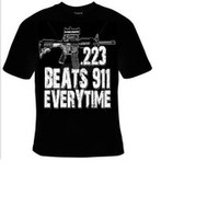 223 BEATS 911 EVERY TIME Tshirts clothes T Shirts Tees, Tee T-Shirt design funny cool tee