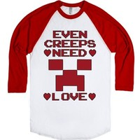 Even Creeps Need Love Minecraft Valentines Day T Shirt-T-Shirt