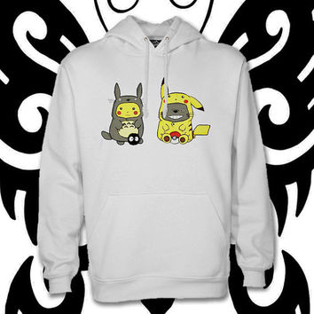 pikachu and totoro , pokemon  by christmasHoodie , hoodies, custom hoodie, ... :D