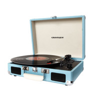 Normandie Portable Record Player in Light Blue