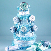 Lollipop Diaper Cake-Baby Boy