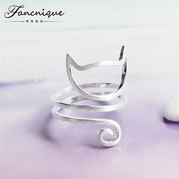 Sterling Silver Twine Young Jewelry Sterling Silver Rings Women Adjustable Freeshipping