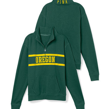 University of Oregon Boyfriend Half Zip - PINK - Victoria's Secret