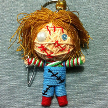 Chucky Killer Horror Movie String Voodoo Doll handmade Keyring Keychain film cartoon Key Ring Key Chain handmade funny Bag small gift