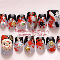 3D nails, fake nails, custom order fake nails, Japanese nail art