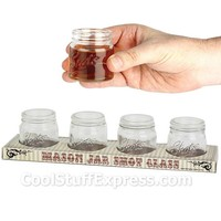 Mason Jar Shot Glasses Set