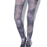 Galaxy Paper Printed Tights - WetSeal