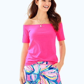 Keria Off The Shoulder Top | 28261-pinkcosmo | Lilly Pulitzer