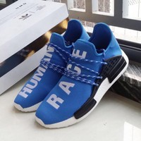 """Adidas"" NMD Human Race Black Leisure Running Sports Shoes white"