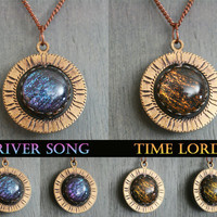 River Song - Time Lord Spinning Necklace