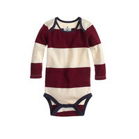 crewcuts Baby Long-Sleeve One-Piece In Rugby Stripe