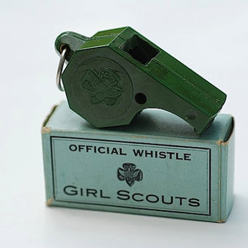 VIntage Bakelite Girl Scout Whistle