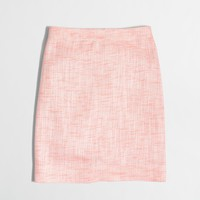Shimmery tweed mini skirt