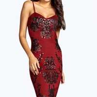 Boutique Holly Lace Strappy Midi Dress