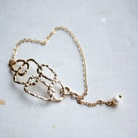Bubble 14k gold fill chain Bracelet by pardes on Etsy