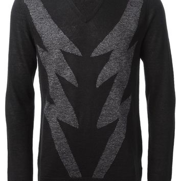 John Varvatos intarsia knit sweater