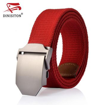 High Quality Solid Canvas belt For men High quality military tactical canvas belt For Male casual strap