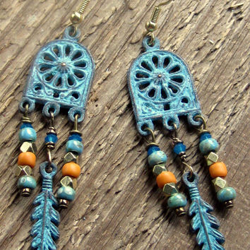 Cathedral Window Earrings Bohemian Jewelry