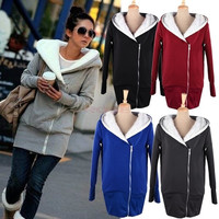 Keep Warm New Womens Hoodie Coat Jacket Sweatshirt Tracksuit Tops Outerwear 3269 = 1745374852