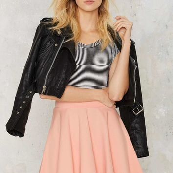 Spin Class Ready Flare Skirt - Blush