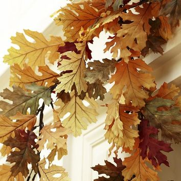 FAUX MIXED LEAF GARLAND
