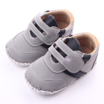 2016 Baby Boy First Walkers Infant Walking Leather Newborn 0-15 Months Baby Boy Shoes
