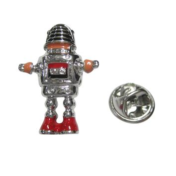 Colorful Retro Robot Lapel Pin