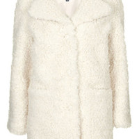 PETITE Faux Fur Teddy Coat - Jackets & Coats - Clothing