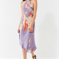 UO Blooming Asymmetrical Hem Midi Dress | Urban Outfitters