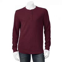 SONOMA life + style Solid Thermal Henley