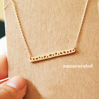 Bar Necklace, , Hipster Charm Necklace, Necklaces, Gold Plated Necklace, Bar Necklace,Tiny Bar Dog Tag, Minimal Jewelry, Gift Ideas, Holiday