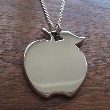 Handmade Apple Pendant Necklace