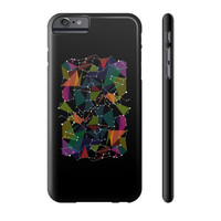 Colored geometric star map coordinate zodiac Phone Case