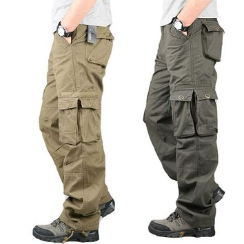 Tactical Cargo Pants Male Special Forces Soldiers Camouflage Overalls Clothes Loose Baggy Trousers Army Militar Pants Plus Size
