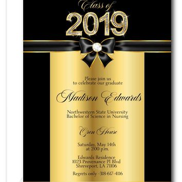 Class of Bling Graduation Party Invitations