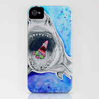 Shark Eating Patrick iPhone & iPod Case by emyemyemyy | Society6